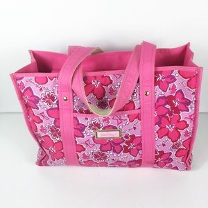 Lilly Pulitzer Pink Floral Beach Bag